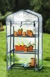 Mini Folien Gewächs Haus Balkon Garten Treibhaus Frühbeet Pflanzen Anzucht Regal