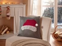 Kissenhülle 'Nikolausmütze? 45x45 Deko Kissen Bezug Weihnachten Weihnachtsdeko