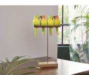 Vogel-Deko 'Papagei? aus Holz Deko Objekt Tisch Figur Skulptur Statue