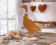 Gans 'Rostoptik? aus Metall rost Deko Figur Tisch Objekt Skulptur Frühlings
