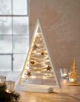 LED Tanne 'Winterzeit? Holz Leucht Fenster Deko Weihnachten Tannenbaum