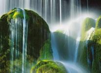"""Küchen Rückwand """" Wasserfall"""" aus Glas, 90x65 Herd Spüle Spritz Schutz Platte"""