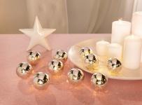 LED-Lichterkette 'Silberkugeln? 10 warmweiß Lichter Innen Beleuchtung Schlauch