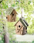 VOGELHAUS 'Early Bird' HOLZ FUTTERHAUS VOGEL HÄUSCHEN FUTTERPLATZ GARTEN DEKO