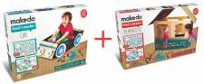 makedo BASTEL SET Auto + Spielhaus KREATIV STECKSPIEL SPIELZEUG basteln bauen