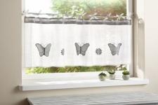 FENSTERVORHANG 'Schmetterling' 125 x 40cm LANDHAUS GARDINE SCHEIBENGARDINE NEU