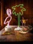 LED DEKO 'Flamingo? aus METALL INNENBEREICH STIMMUNGS LICHT FIGUR OBJEKT
