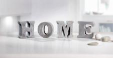 4tlg. Deko Schriftzug 'Home? Used-Look Buchstaben Tisch Objekt Figur