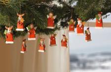 """12ER HÄNGER """" Weihnachtsfreunde"""" TERRACOTTA WEIHNACHTEN WEIHNACHTSDEKO DEKOHÄNGER"""