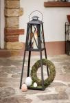 Laterne 'Klassik? aus Metall, Deko, Garten Windlicht Kerzen Halter Ständer