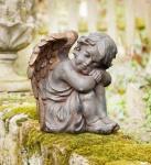 ENGEL 'Bronzeflügel? aus POLYRESIN Antik-Look DEKO FIGUR SKULPTUR STATUE