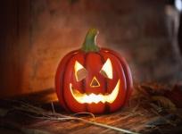 Kürbis Windlicht 'Haloween? aus Fiberglas Kerzen Halter Laterne Herbst Pumpkin