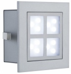PAULMANN WAND EINBAULEUCHTE WINDOW 2 Alu matt IP23 1x2W LED 230V