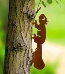 WENKO BAUMSTECKER Eichhörnchen aus METALL in ROST OPTIK GARTEN DEKO BAUM STICKER