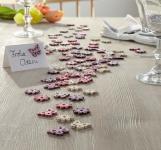 90er Set Deko Streuer 'Bunt? aus Holz Streu Element Tisch Blume Schmetterling
