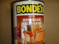 BONDEX WOHNRAUM WACHS LASUR FARBE lichtgrau 0, 75L NEU 0, 66?/100ml