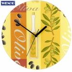"""WENKO Design Glas Wanduhr """" Olive"""" Ø 27 cm analog Esszimmer Küchen Uhr"""