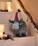 Deko Elch 'Wuschel? Weihnachten Weihnachtsdeko Textil Figur Winter stehend