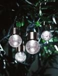 4er LED SOLARLAMPE 'Kristall' GLAS SOLARLEUCHTE GARTENLEUCHTE BELEUCHTUNG NEU