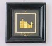 """3D Bild """" Schloss Neuschwanstein"""" 24k 24 Karat ECHT GOLD mit Holz Rahmen schwarz"""