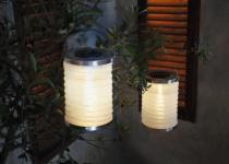 """2er LED SET LAMPION """" Solar"""" GARTEN BALKON TERRASSE AUSSEN LAMPE LEUCHTE STRAHLER"""