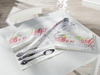 2ER GESCHIRRTUCH 'Bon Appetit'50x70 BAUMWOLLE KÜCHENHANDTUCH KÜCHENTUCH HANDTUCH