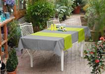 Tischläufer MELANGE in grün, 40x140 cm Tisch Band Tuch Zier Decke