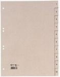 50x Hetzel Tauenpapier Register A4 10tlg. Zahlen 1-10 Papier Ordner Register