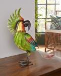 Papagei Figur 'Perry? aus Metall Deko Tisch Vogel Garten Terrasse Tropical