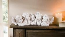 Engel 'Fünf Freunde? Deko Statue Skulptur Weihnachten Weihnachtsdeko