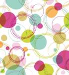 """Küchen Rückwand """" Funny Circles"""" aus Glas, 60x65, Herd Spüle Spritz Schutz Platte"""