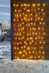 LED Lichter Vorhang 'Sterne? warmweiß Schlauch außen Weihnachten Kette