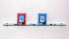 GLASREGAL 10mm CLARO 120x20 mit ALU HALTERUNG NEU WANDREGAL GLAS REGAL WANDBOARD