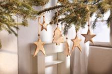 6er Holz Hänger 'Winterzeit? Weihnachten Deko Weihnachtsdeko Wand Schmuck