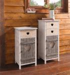 """Holz Kommode """" Alpin"""", 2 Schubladen, weiß, Landhaus Shabby Design, Regal Schrank"""
