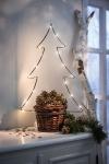 LED Pflanzer 'Tannenbaum? aus Metall Weihnachten Lichterkette Pflanz Korb Topf
