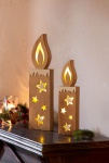 2er LED Kerze 'Sternenschein? Christmas Schmuck Verzierung Weihnachten Deko
