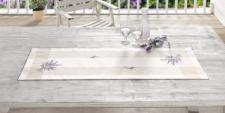 TISCHLÄUFER 'Lavendel' 40 x 120cm TISCHBAND TISCHWÄSCHE TISCHTUCH NEU
