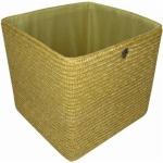 Zeller Flechtkorb natur 34x31, 5x31, 5 Regal Aufbewahrungs Stroh Korb Box Kiste