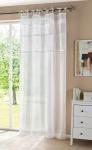 """DEKOSCHAL """" Cottage"""" weiß 140 x 250 DEKO SCHAL GARDINE VORHANG SCHLAUFENSCHAL"""