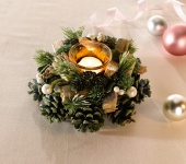 """Windlicht Kranz """" Wintergrün"""" Laterne Kerzen Teelicht Halter Weide Weihnachten"""