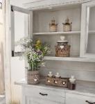 """2 tlg Deko Vase """" Lovely Cottage"""" Weiden Korb + Glas Einsatz Blumen Landhaus Stil"""