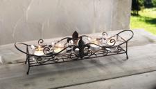 WINDLICHT 'Schwertlilie' aus METALL GLAS KERZENHALTER TISCHDEKO TEELICHTER NEU