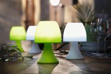 """2er SET LED LAMPE """" Green"""" in grün CAMPING OUTDOOR GARTEN TISCH LAMPE LEUCHTE"""