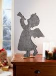 Figur 'Engel mit Trompete? Filz Deko Statue Skulptur Weihnachten Weihnachtsdeko