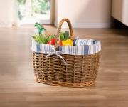 Einkaufskorb 'Land-Look? Einkaufstasche Korb Bügel Ernte Füllkorb Picknick