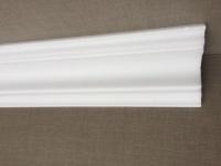 15m Decken Leisten 10x 1, 5m S0 Eck Leiste 80x80 mm 3D Optik Zier Profil Styropor