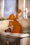 Metall Figur 'Engel mit Trompete? Rostoptik Deko Weihnachten Tischdeko
