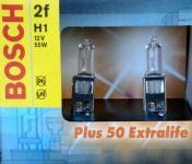 1 PAAR BOSCH H1 PLUS 50 EXTRA LIFE 55W