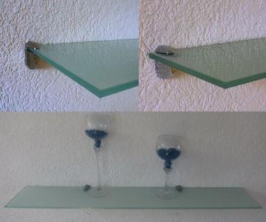 Glasregal CLARO Wandregal Größe / Farbe wählbar Badregal Glas Ablage Wand Regal - Vorschau 2